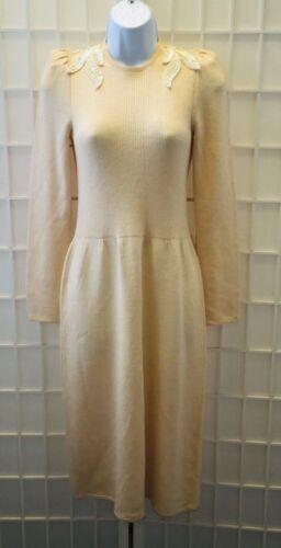 ST JOHN for Saks Fifth Avenue Beige Knit Dress / 8