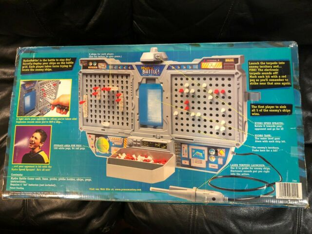 1999 Electronic Hydro Battle By Pressman Rare Battleship Water War Game Complete For Sale Online