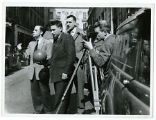 Photo cinéma séance de tournage caméra Bolex,vers 1950 film movie
