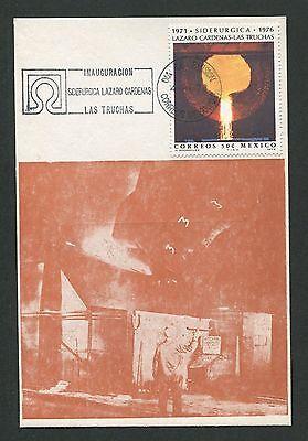 Haben Sie Einen Fragenden Verstand Mexico Mk 1976 EisenhÜtte Schmelzofen Maximumkarte Carte Maximum Card Mc Cm D303 Und Verdauung Hilft Diverse Philatelie