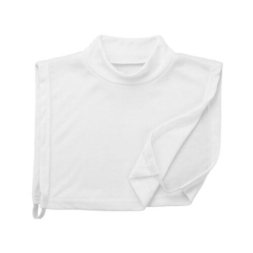Women Girls Cotton False False Collar Half Top Mock Shirt Blouse Detachable Bib