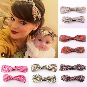 Headwear-Floral-Flowers-Bow-Knot-Hair-Band-Mother-amp-Baby-Headband-Turban