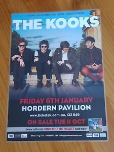 THE KOOKS - 2012 AUSTRALIA Tour - Laminated Promo Tour Poster