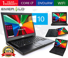 DELL Latitude LAPTOP WINDOWS 10 PC Core i7 4GB RAM WiFi DVDRW NOTEBOOK HD webcam