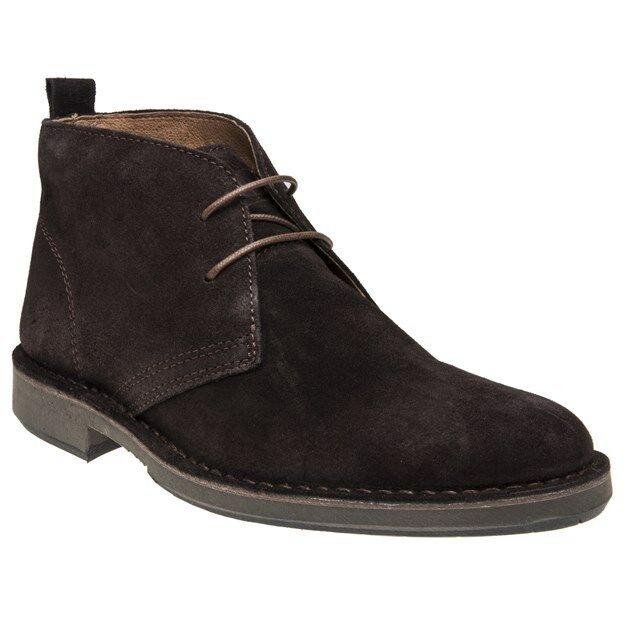New MENS SOLE BROWN ELMS SUEDE BOOTS CHUKKA