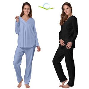 2861fe9c7e Das Bild wird geladen Desen-Damen-Hausanzug-Pyjama-100-Baumwolle-Schlafanzug -Oberteil-