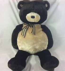 Gund Jumbo Abram Large Beanbag Teddy Bear Plush With Bow Stuffed
