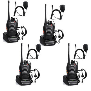 4X-Baofeng-BF-888S-400-470MHz-2-way-Radio-16CH-Walkies-Talkie-Handheld-Mic