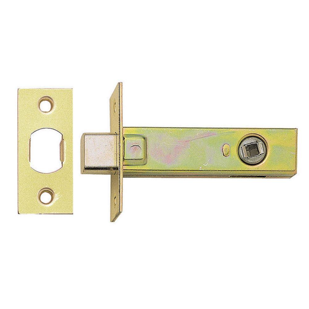 Deadbolt 64 or 76mm Bathroom Bolt Through Door Lock 5mm  BRASS// STEEL POLISHED