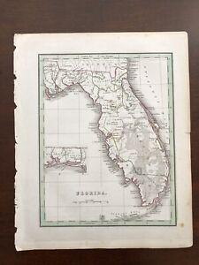 1835 bradford map of florida amelia tallahassee pensacola maps atlas vg conditn ebay ebay