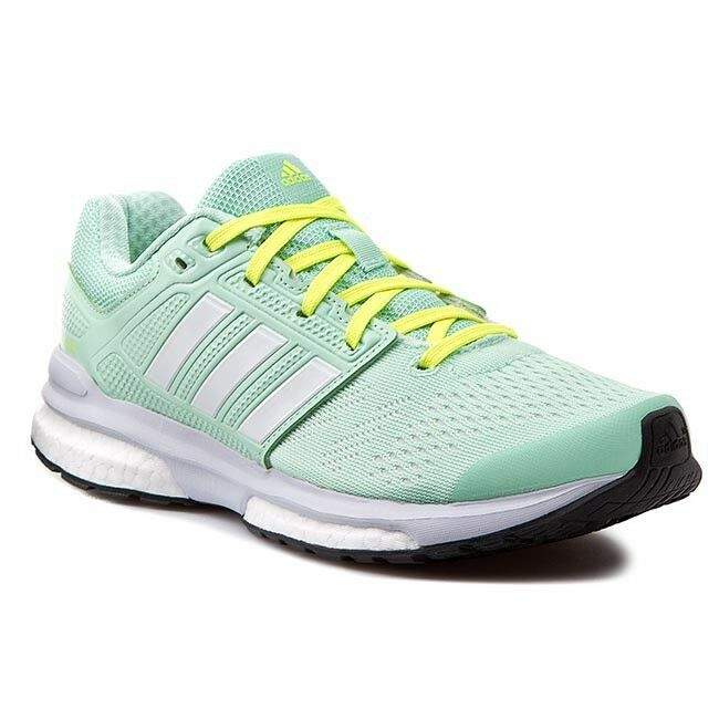 Womens Ladies Bdidas Revenge Boost Techfit Running Shoes Trainers Sneakers Green