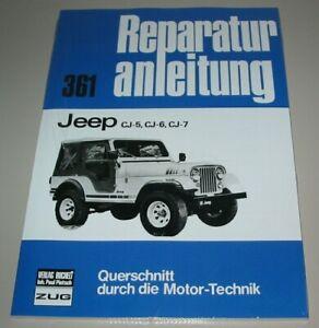 Reparaturanleitung-Jeep-CJ-5-CJ-6-CJ-7-1954-1986-Reparatur-Buch-NEU