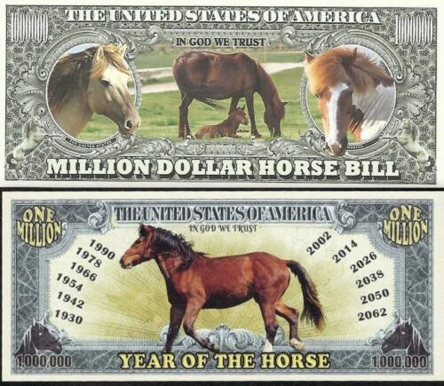Lot of 2 notes featuring HORSES ~ Fantasy Notes ~ Nice colors and design