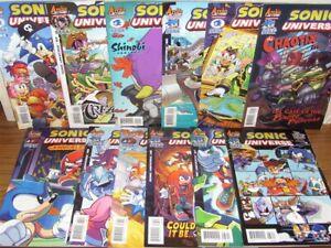 SONIC UNIVERSE 86-93 ARCHIE LOT 12 COMICS VARIANT SEGA GENESIS GAME 2016 NEW!