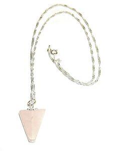 COLGANTE-de-CUARZO-ROSA-pendulo-triangular-20x15-mm-y-CADENA-PLATA-de-ley-925