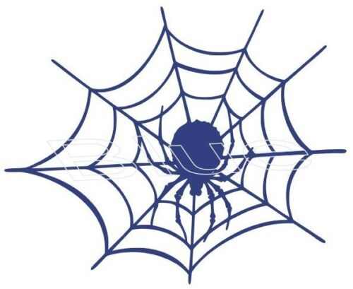 "SPIDER IN WEB ~ 8/"" x 6-1//2/"" ~ VINYL GRAPHIC CAR DECAL STICKER ~5 COLOR CHOICES"