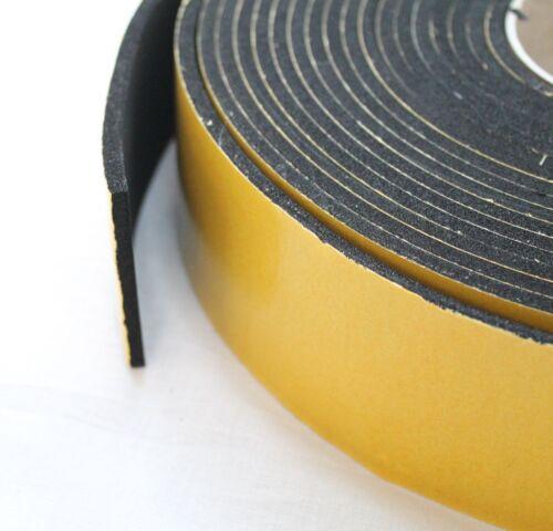 Zellkautschuk EPDM 10x2mm10m schwarz einseitig selbstklebend Streifen Dichten