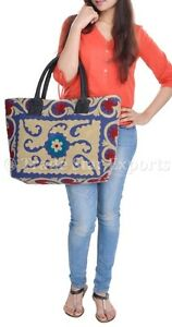 Large-Woman-Handbags-Suzani-Embroidered-Tote-Purse-Cotton-Shoulder-Bohemian-Bag