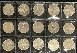 Australian-20-Cent-20c-commemorative-coin-collection-x-15-coins-EF