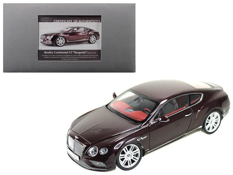 2016 Bentley Continental GT LHD Bourgogne 1 18 Diecast voiture modèle par Paragon