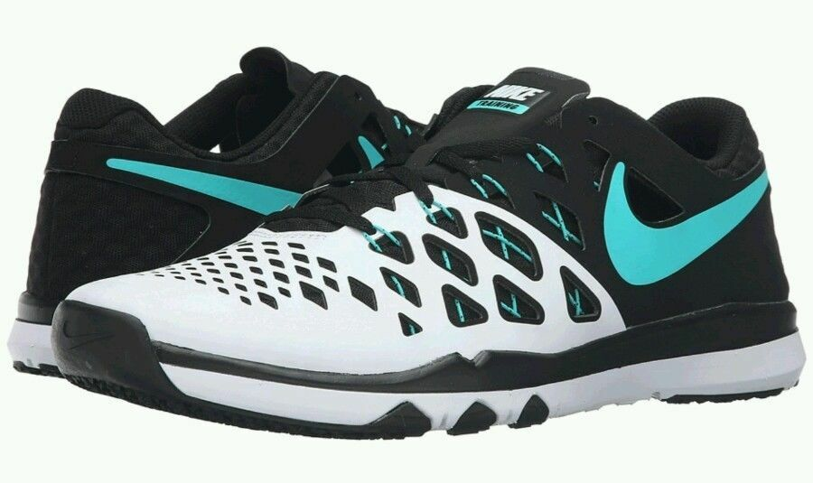Men's, NIKE Train SPEED 4  WHITE HYPER-JADE BLACK 843937 130. Size 10