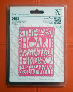 Xcut-Cutting-Die-1pc-The-Heart-Always-Finds-Its-Way