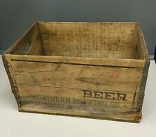 Vintage Northern Brewing Co. Wooden Beer Crate - Superior WI Wisconsin