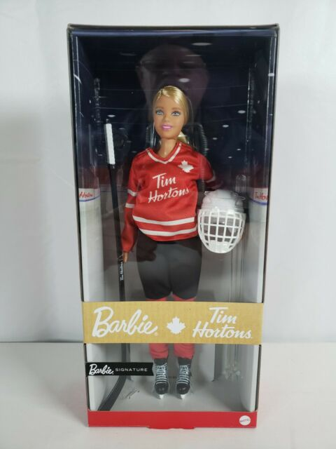 TIM HORTONS Barbie Doll Iconic Hockey Player Canadian Issue FREE SHIPPING!