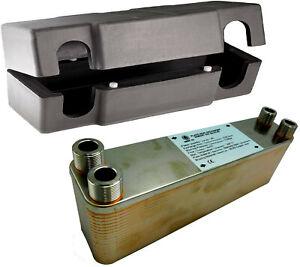 Inox Plate Brazed Heat Exchanger NORDIC TEC 3/4 BSP 55-250kW with Insulation Box
