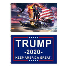 3 x 5FT Trump Flag 2020 - Keep America Great - Elect Donald For USA President