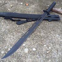 27 Black Ninja Hunting Machete Tanto Sword W/sheath K-1020-30p-bk