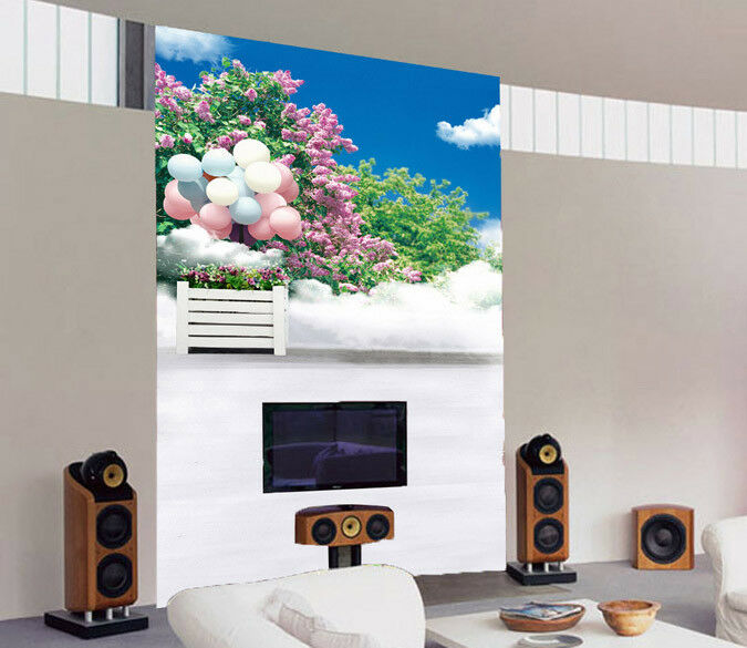 3D Pink Balloon Flower 453 Wall Paper Wall Print Decal Wall Deco Indoor Mural