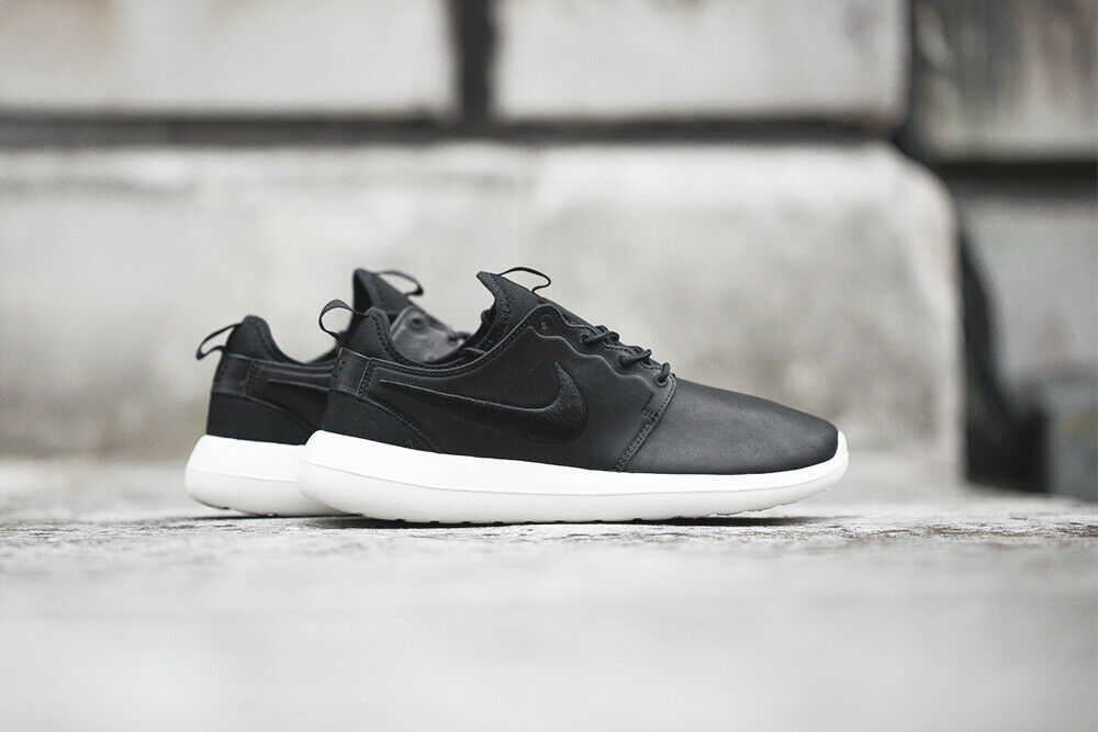 NIKELAB ROSHE 2 in Pelle Premium TWO TG US 8.5 EUR 42 NIKE LAB Nero