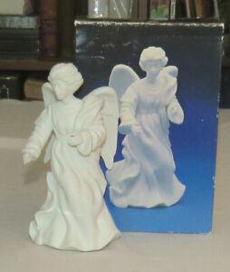 Avon Nativity White Bisque Standing Angel in Original Box 1987
