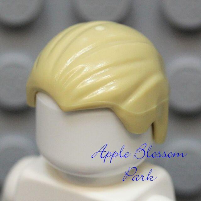 Widows Peak Male Boy Head Gear NEW Lego Minifig Slicked Back TAN HAIR