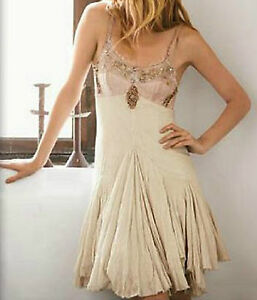 Free People Embellished Formal Vacation Wedding Prom Dress S 4 ...