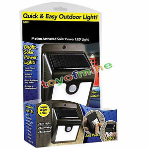 Http Www Ebay Com Itm Ever Brite Outdoor Motion Activated Solar Power Led Light Stick Up As Seen On Tv 252682951971
