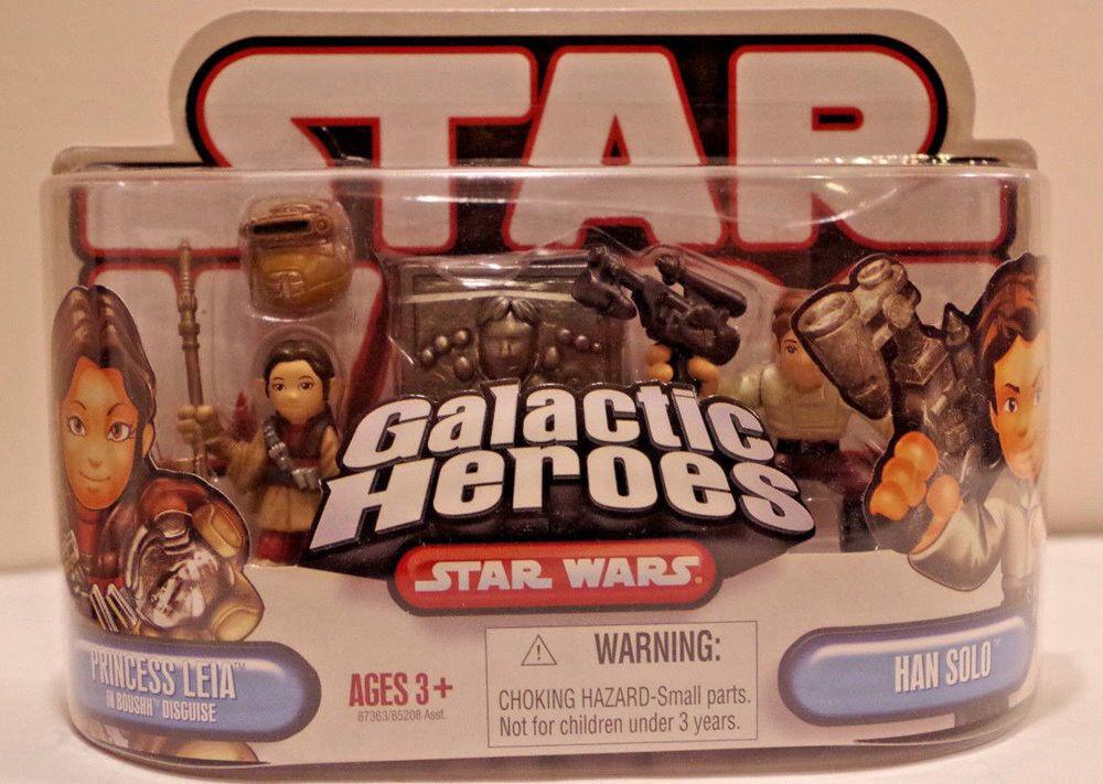 Star Wars Clone Wars Galactic Heroes - Leia Boushh & Han Solo In Carbonite