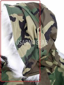 Lot of 10 US Military GORETEX PARKA RUFF Extended Cold Weather Woodland Medium