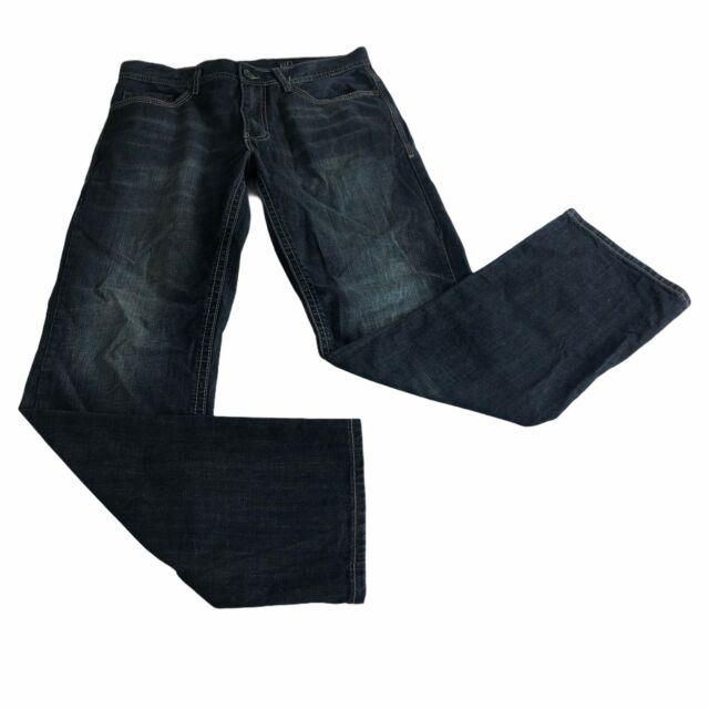 axel mens jeans 32x34 treadwell relax straight leg denim pants