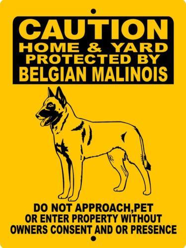 """BELGIAN MALINOIS Dog Sign,ALUMINUM 12/"""" x 9/"""" Guard Dog,Security 2496BMC5"""