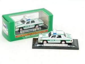 Hess 2003 Miniature Lighted Hess Patrol Car Police Car NIB Works with O Gauge