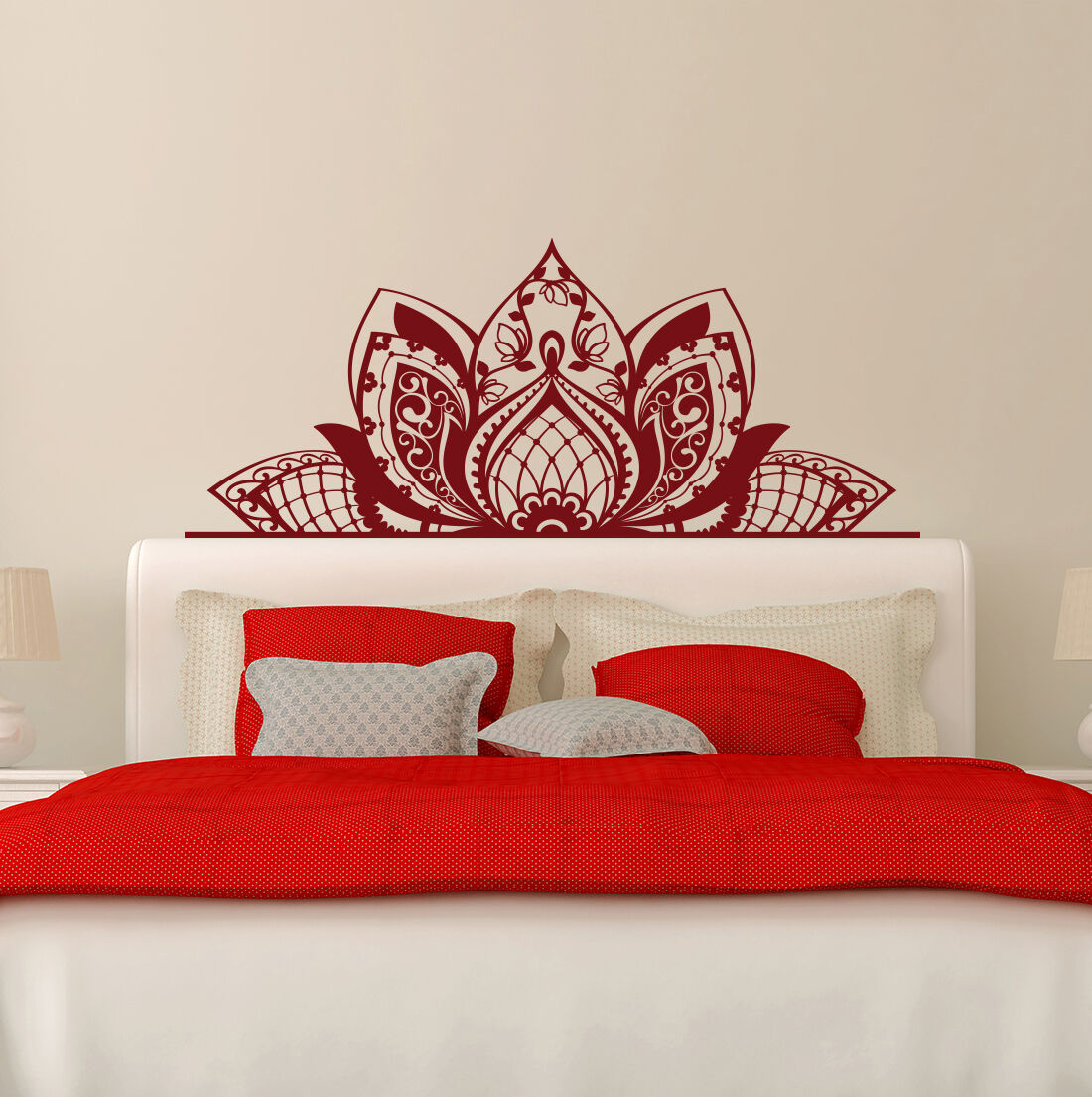 MANDALA Decorate The BEDS Wall Decal Lotus Decal Boho Decor HEADBOARDS FD204