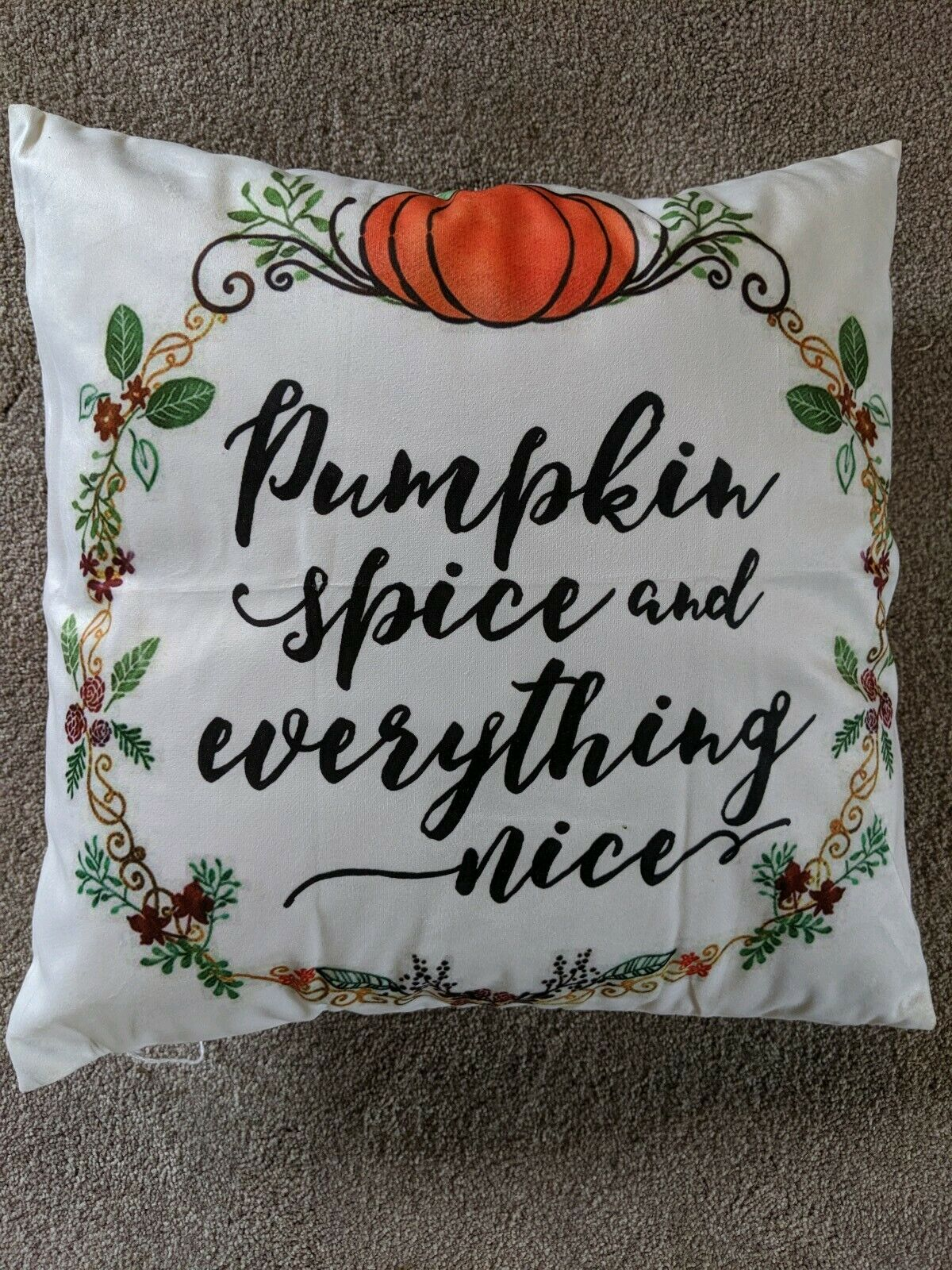 Fall Pillow Autumn Themed Farmhouse Decorative Throw Pillow For Sale Online Ebay