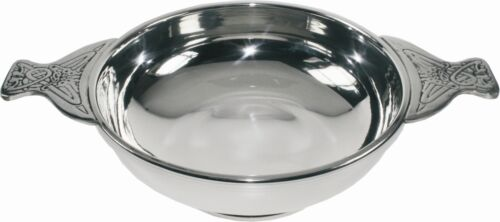 Gift Boxed Extra Large 6.5 Inch Pewter Quaich by The Quaich Company