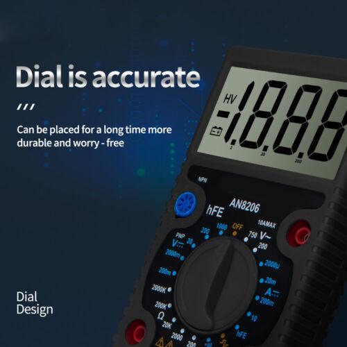 Ersatz Multimeter Schwarz Großbild Ohmmeter Digital Messung Tester Langlebig
