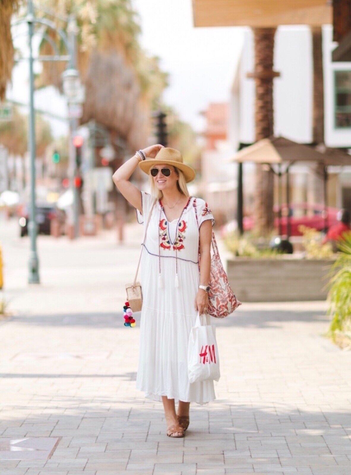 New Free People Daisy Fields Maxi Dress Sz medium