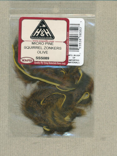 olive Micro pine squirrel zonkers 2 feet     SSS089