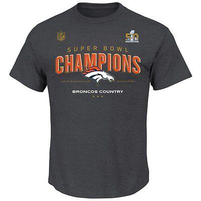 NFL Denver Broncos Super Bowl 50 Champions Official Loose Room T-Shirt