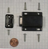 Futaba (d-90)x(k-90) Non-magnetic Push Latch, Plastic, Black, For Wood Doors